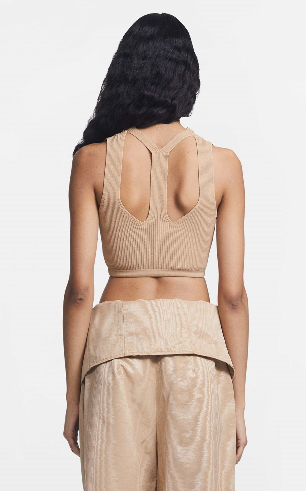 Knitwear  | LUSTRATE FORK CROP TOP
