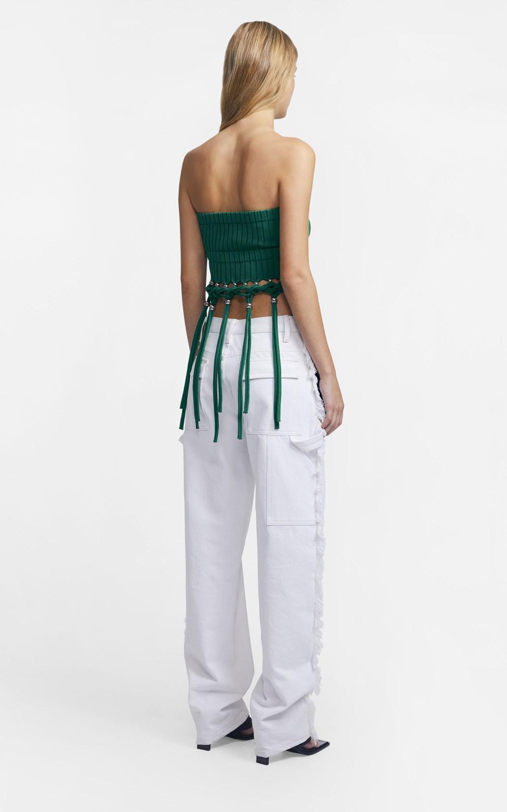 Knitwear | BEADED FRINGE TUBE TOP