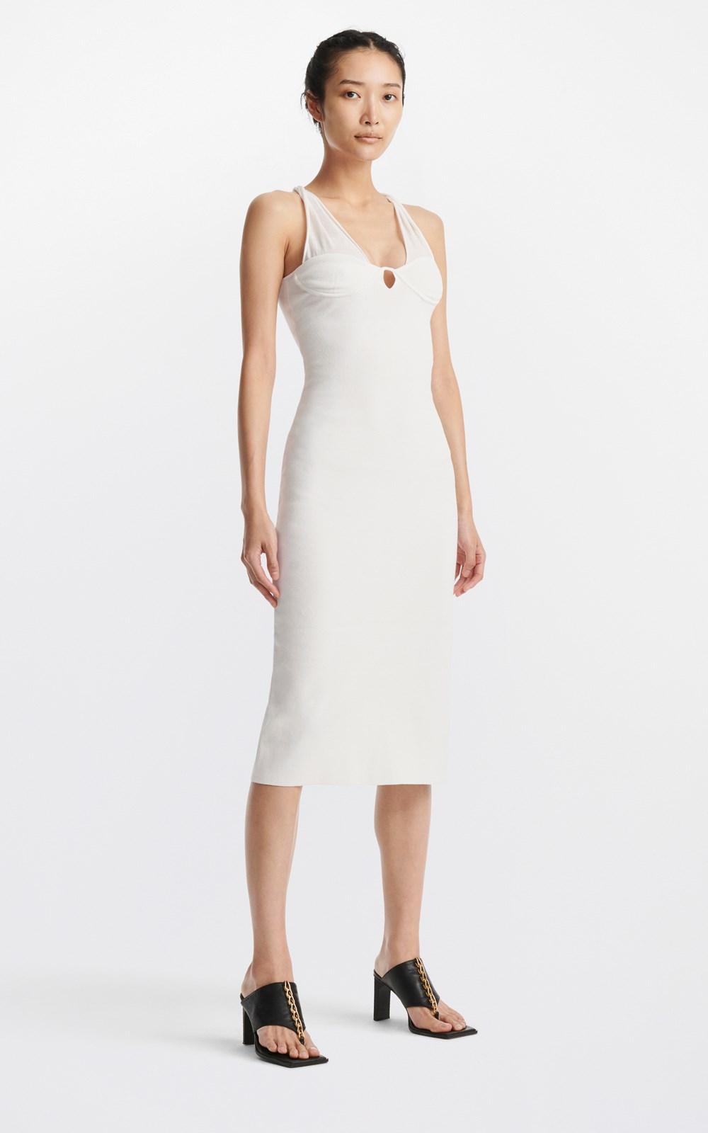 Dresses | COTTON TUBE TWIST DRESS