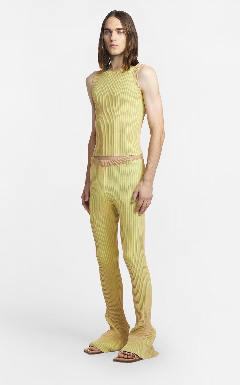 Knitwear | STRIPE RIB TANK
