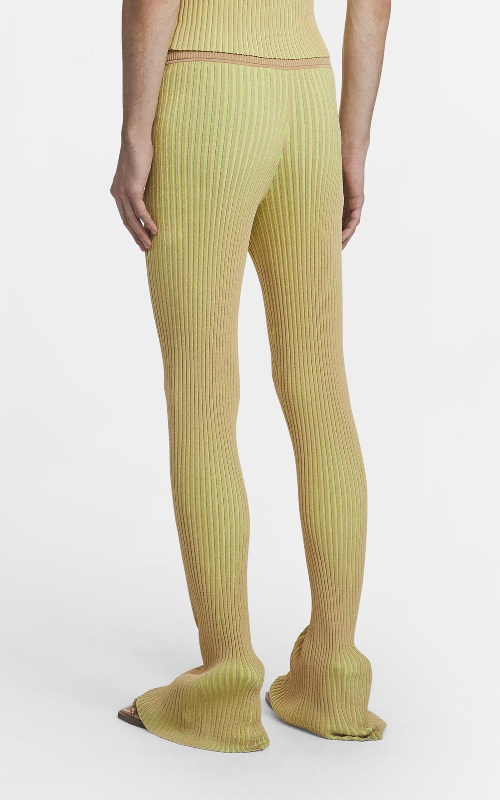 Knitwear | STRIPE RIB PANT