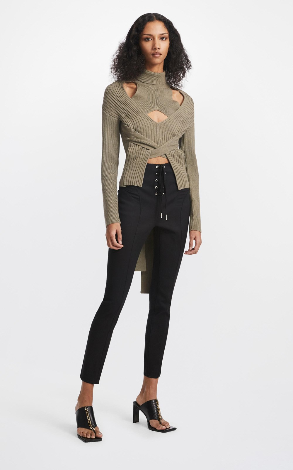 Knitwear   CABLE TIE SWEATER