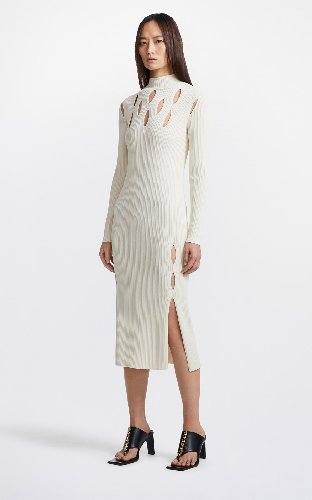Dresses | SLASHED RIB DRESS