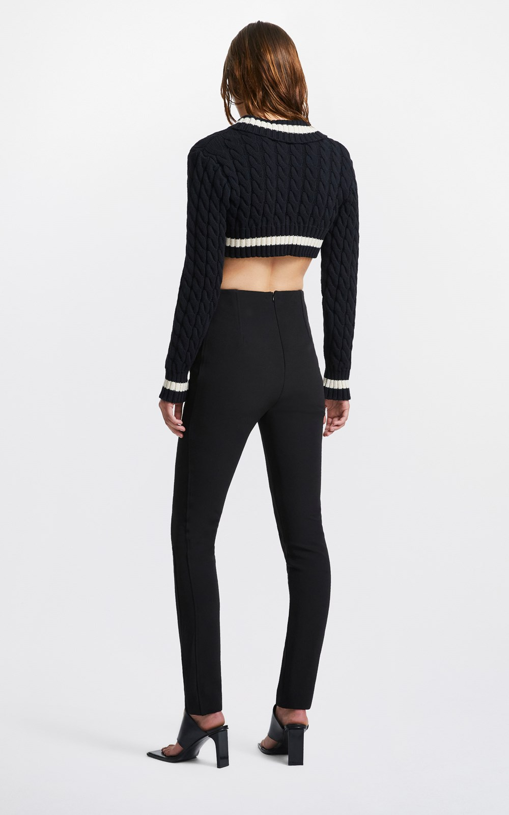 Knitwear  | CROPPED CABLE SWEATER
