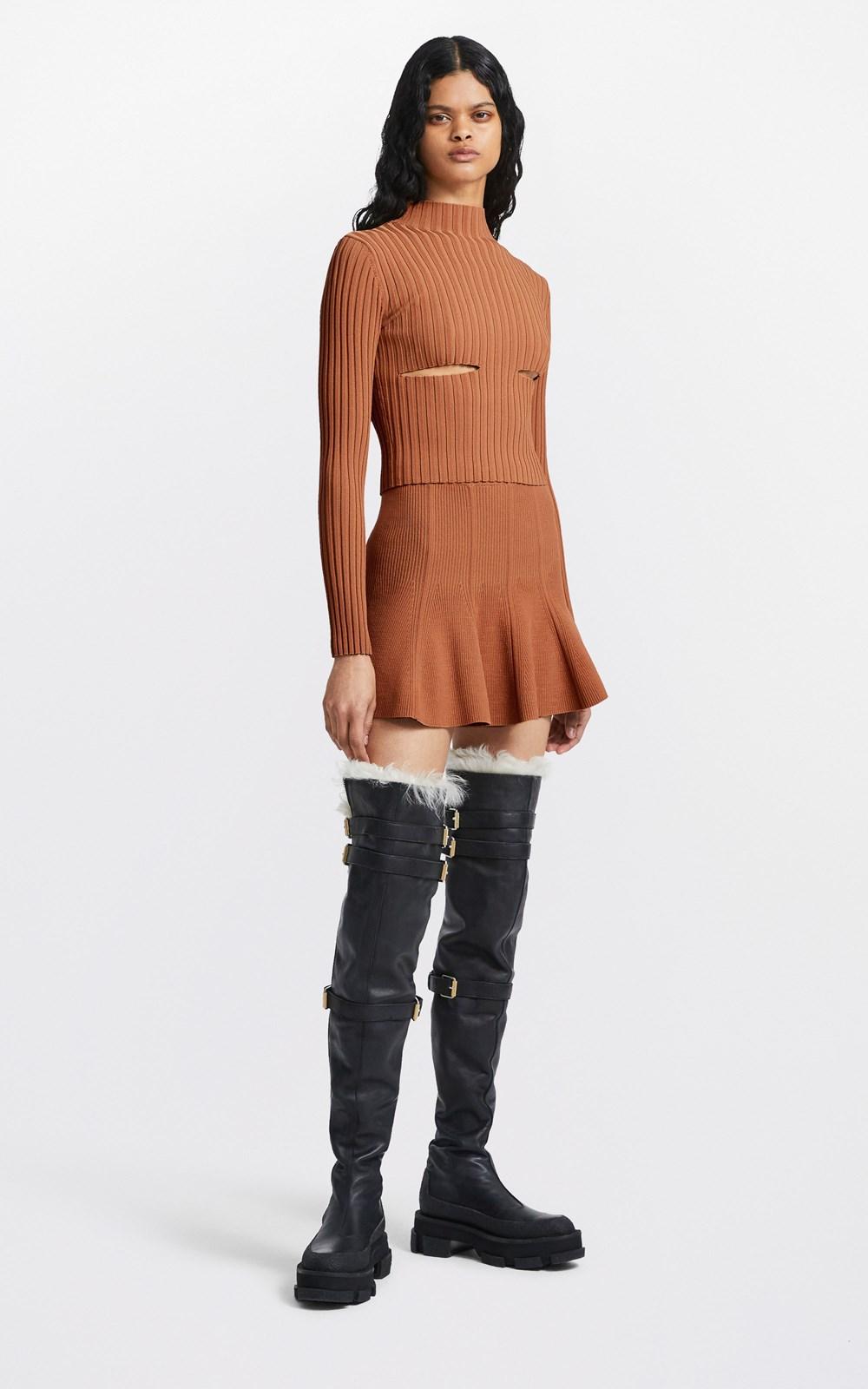 Skirts | CORSET FLARE SKIRT