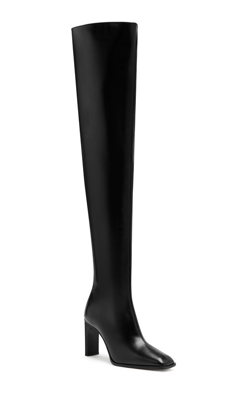 New   | THIGH HIGH SQUARE BOOT
