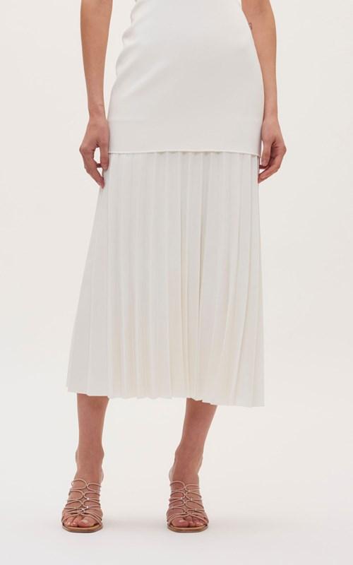 Dresses   LINEAR CREPE PLEAT STRAPLESS DRESS