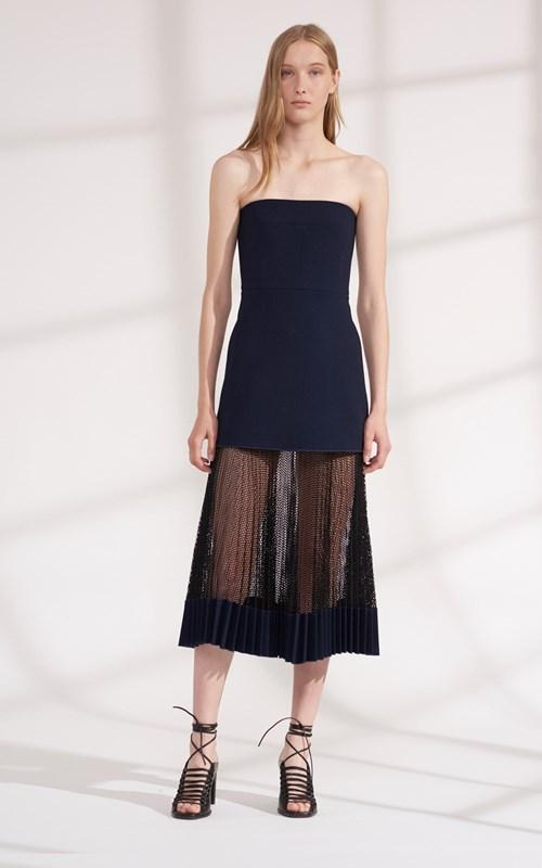 Dresses | NET PLEAT STRAPLESS DRESS