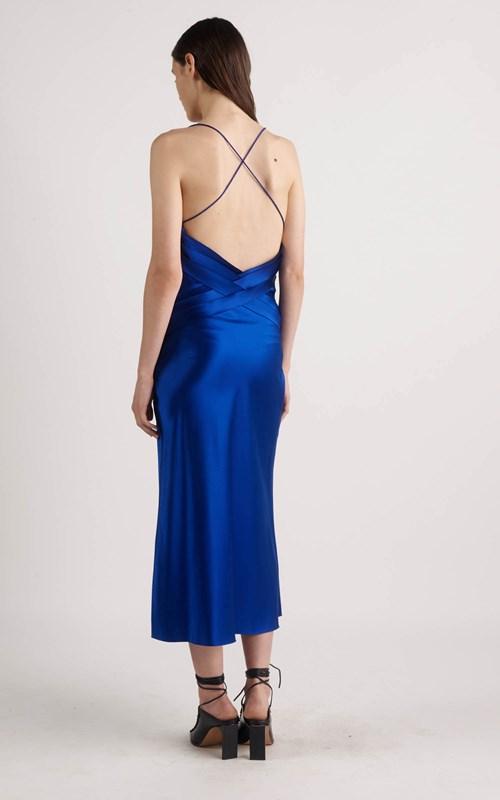 Dresses   BIAS WEAVE COWL DRESS
