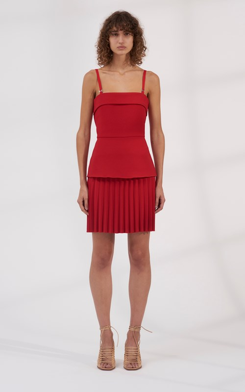 812078be21c3 Sale | LINEAR PLEAT E-HOOK MINI DRESS ...
