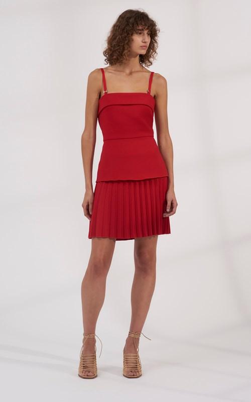 9eca8e543a ... Sale | LINEAR PLEAT E-HOOK MINI DRESS