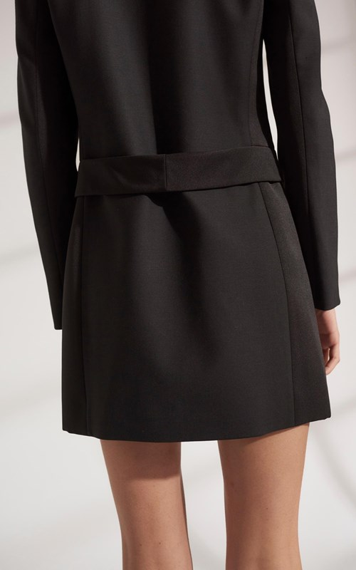 Dresses | WOOL GROSGRAIN BLAZER DRESS