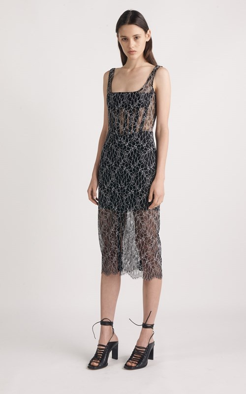 Dresses | VEIN LACE CORSET DRESS
