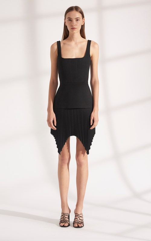 Dresses | TRUSS PLEAT MINI DRESS