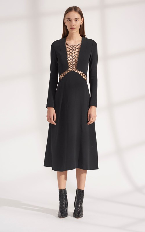 Dresses | FLOATING COIL LONG SLEEVE DRESS