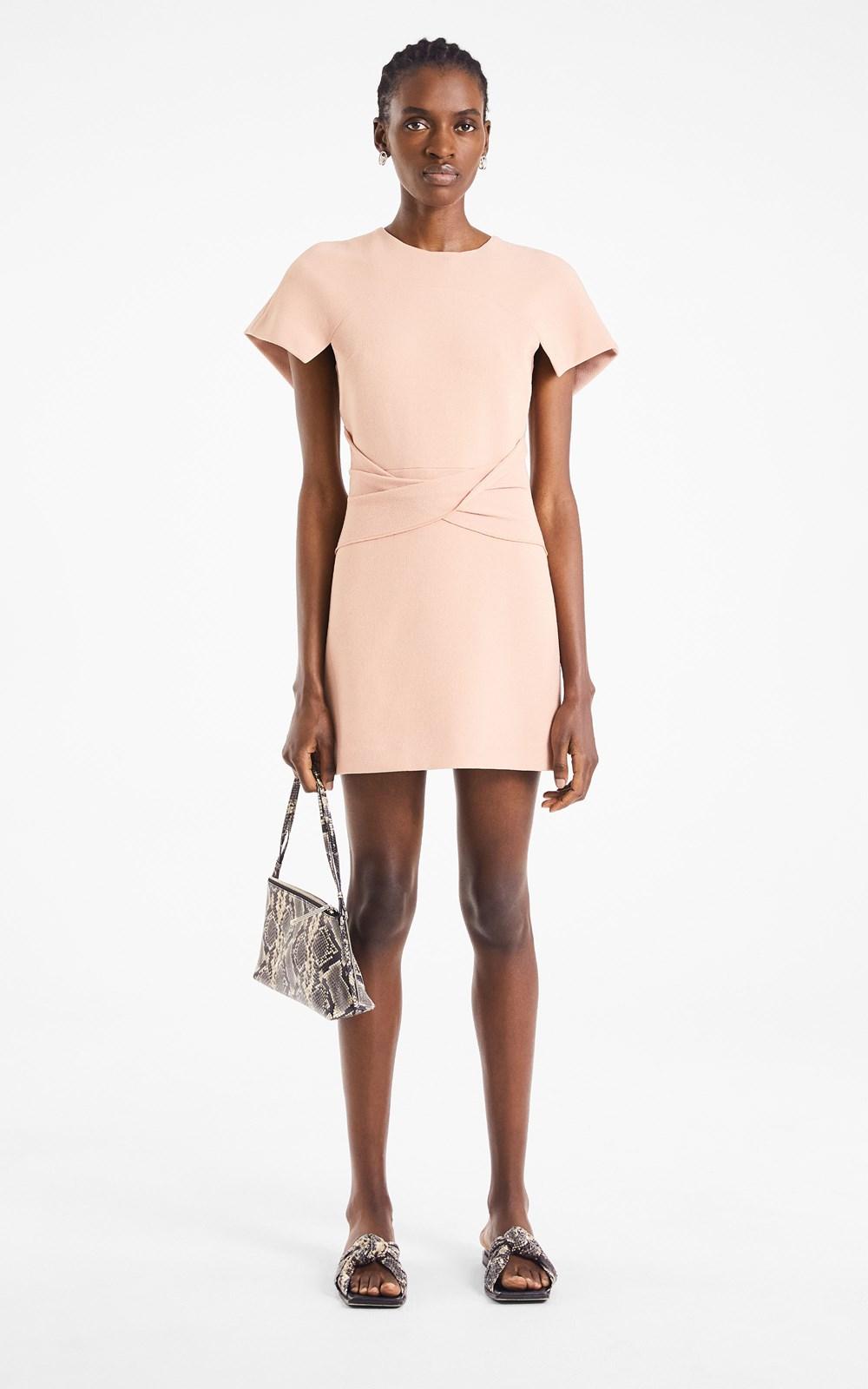 Dresses | CONCAVE CREPE MINI DRESS