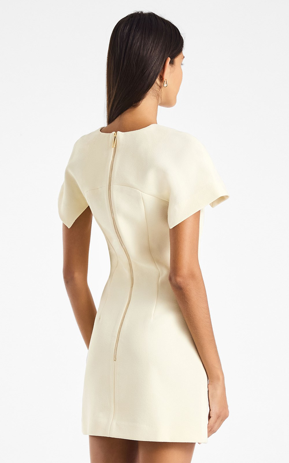 Dresses | CONCAVE CREPE MINI DRESS