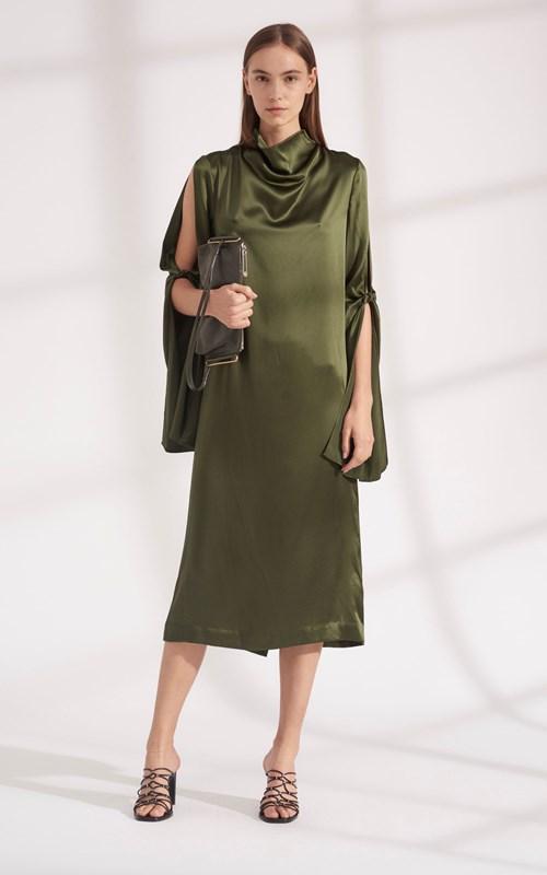 Sale | HINGE KNOT LONG SLEEVE DRESS