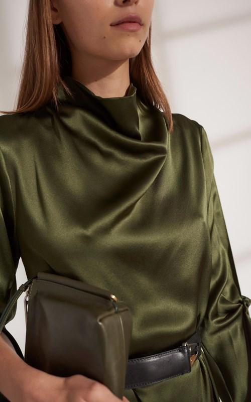 Dresses | HINGE KNOT LONG SLEEVE DRESS