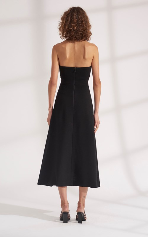 Dresses | PIERCED WOOL CREPE CONCAVE DRESS
