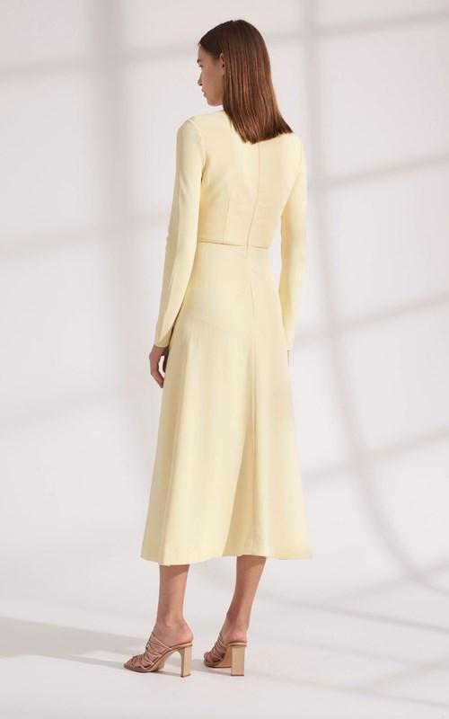 Dresses | PIERCED DRAPE LONG SLEEVE DRESS