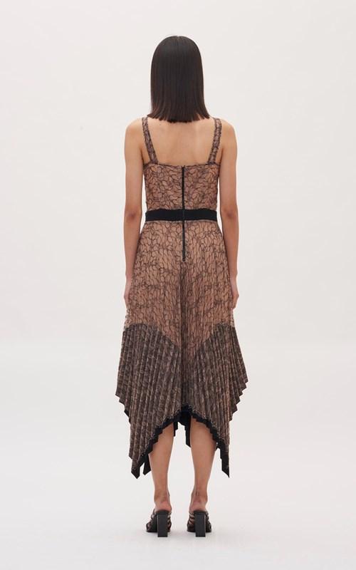 Dresses | VEIN LACE PLEATED CORSET DRESS