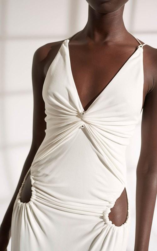 Dresses | VISCOSE JERSEY PIERCED DRESS