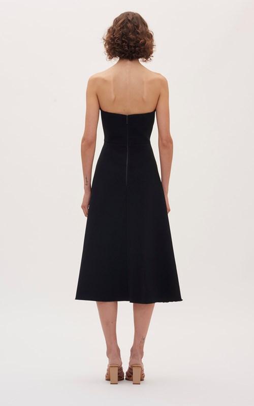 Dresses | CONCAVE CREPE STRAPLESS DRESS