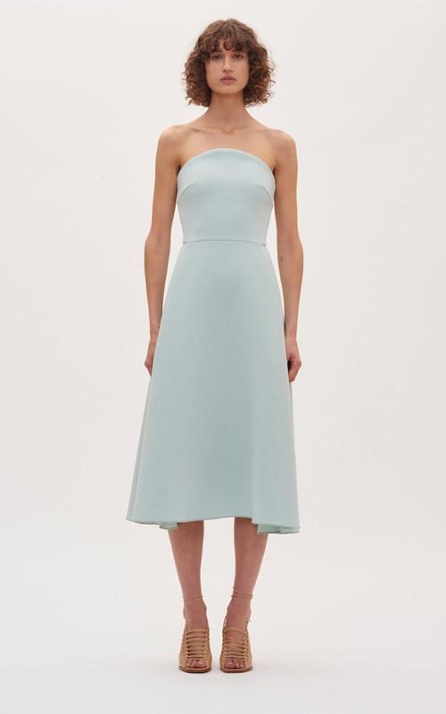 Dresses   CONCAVE CREPE STRAPLESS DRESS