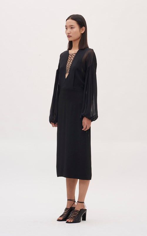 Dresses | FLOATING COIL GATHER SLEEVE DRESS