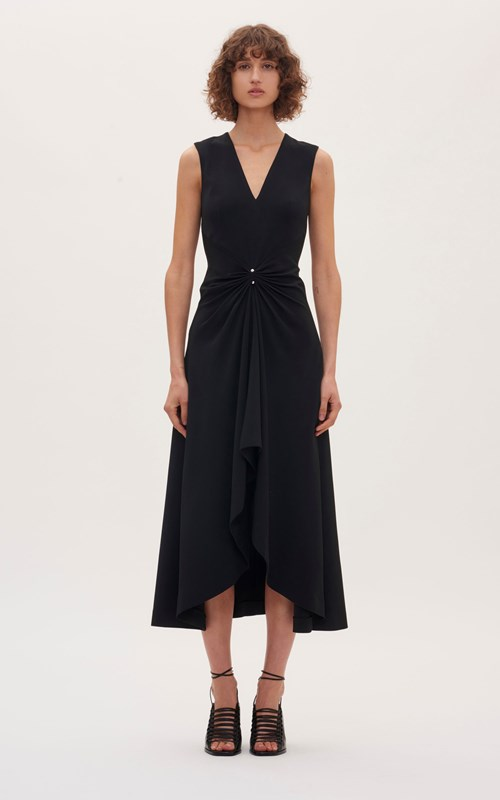 Dresses | PIERCED DRAPE SLEEVELESS DRESS