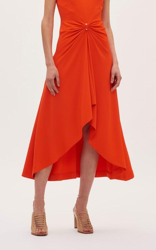Dresses | PIERCED DRAPE SLEEVELESS DRESS