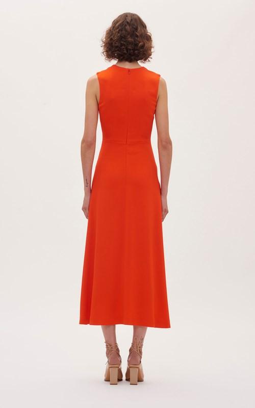 Dresses   PIERCED DRAPE SLEEVELESS DRESS