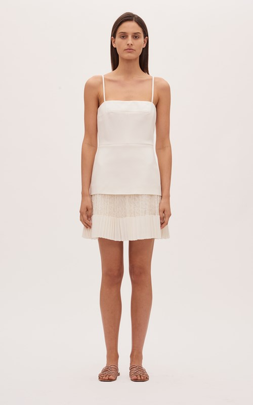 Dresses | VEIN LACE PLEAT MINI DRESS