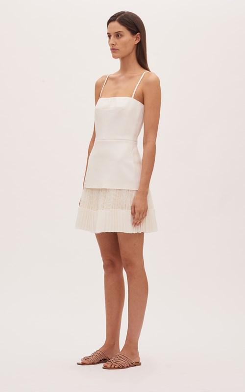 Dresses   VEIN LACE PLEAT MINI DRESS