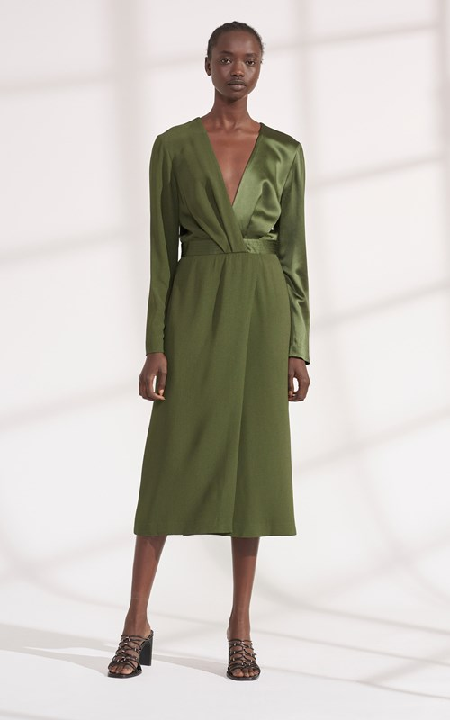 Dresses | PIVOT DRAPE LONG SLEEVE DRESS