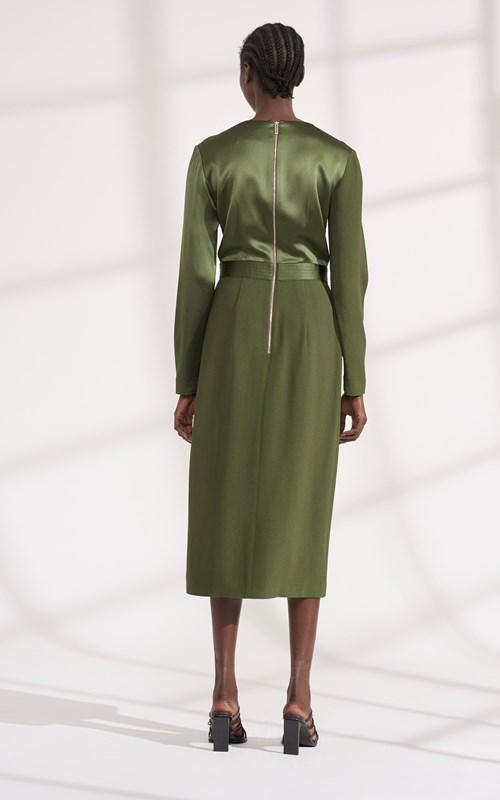 Dresses | PIVOT DRAPE LONG SLEEVE DRESS