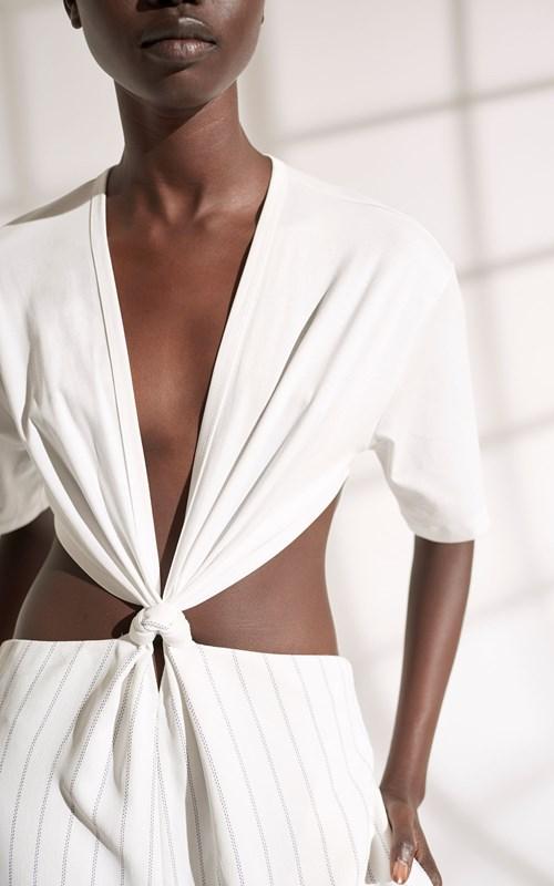 Dresses | MODULAR PINSTRIPE JUMPSUIT