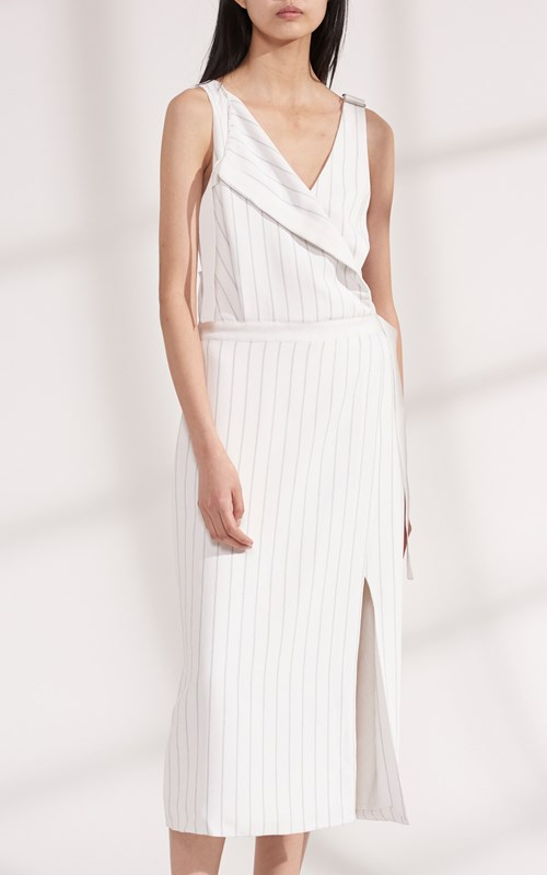 Dresses  | PINSTRIPE UTILITY DRESS