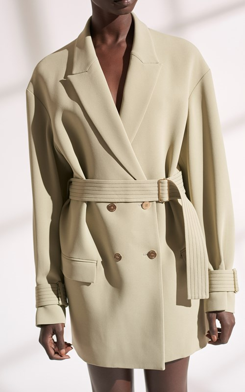 Outerwear | CADY COCOON COAT DRESS
