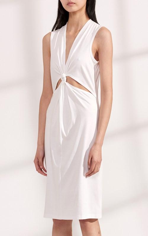 Dresses   LOOP KNOT JERSEY TANK DRESS