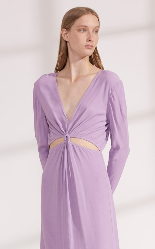 Dresses  | LOOP KNOT LONG SLEEVE DRESS