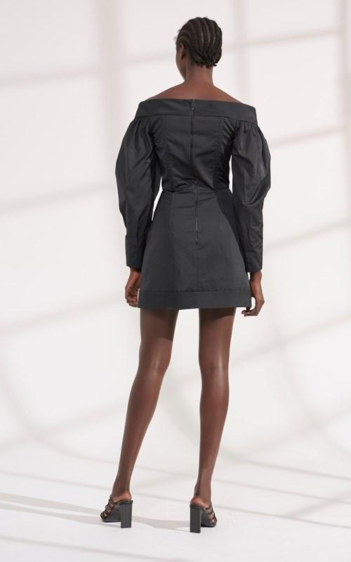Dresses | CINCHED RUFFLE MINI DRESS
