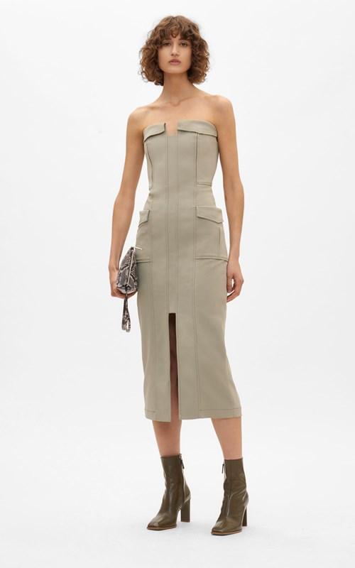 New  | POCKET BUSTIER DRESS