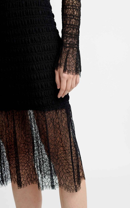 Dresses | SHIRRED ELAPID LACE DRESS