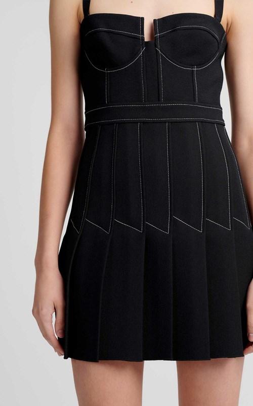 Dresses | COLUMN PLEAT MINI DRESS