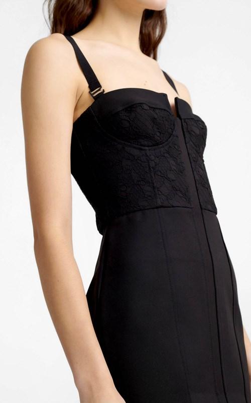 Dresses  | LACE COLUMN BUSTIER DRESS
