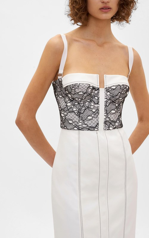 Dresses  | LACE COLUMN BUSTIER DRESS
