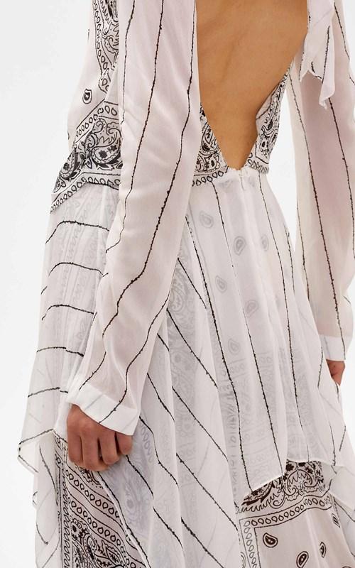 Dresses | BANDANA LONG SLEEVE KNOT DRESS