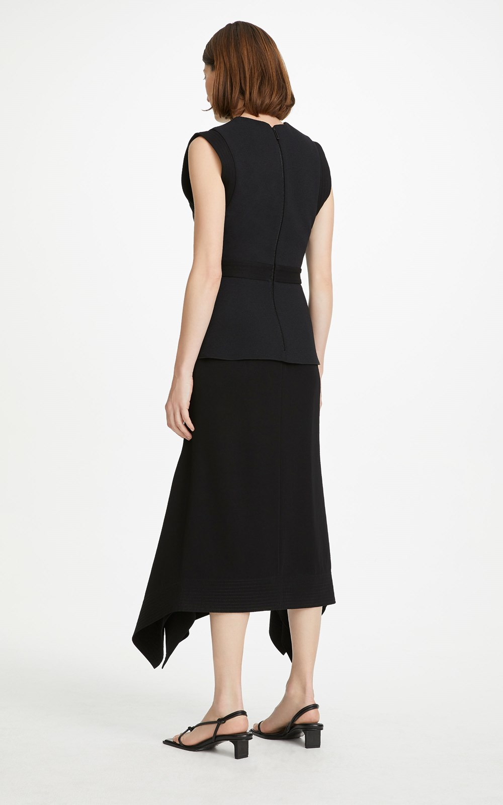 All  | BELTED STITCH DRAPE DRESS